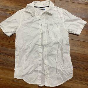 Boys short sleeve 100% cotton dress shirt